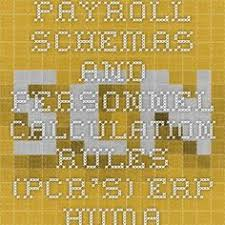 payroll schemas and personnel calculation rules pcrs erp human capital management scn sap hr payroll consultant resume
