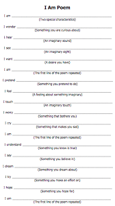 I Am Poems Blog And Provided You With Feedback I Am Poem Template Resolution 631 X 1123 Px