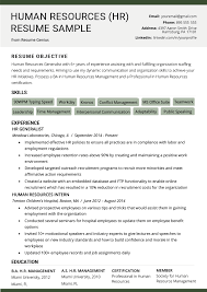 Resume Format Guidelines Human Resources Hr Resume Sample Writing Tips Rg