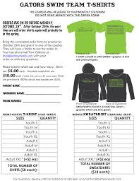 clothing order form template word t shirt order form template free blank word printable pdf editable