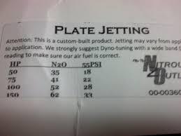 Nitrous Outlet Stinger Plate Jet Chart 32 Thorough Nos Pill Chart