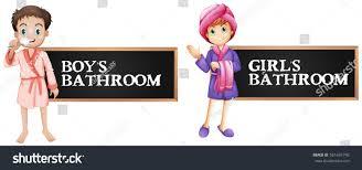 bathroom boy sign. bathroom sign for boy and girl illustration