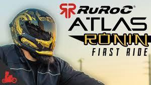 Ruroc Size Chart Ruroc Atlas Motorcycle Helmet Review First Ride Bike