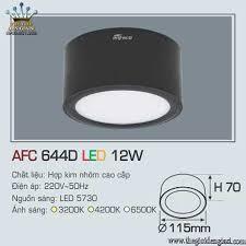 Đèn Lon Nổi Led Anfaco AFC644D 12W ɸ 115