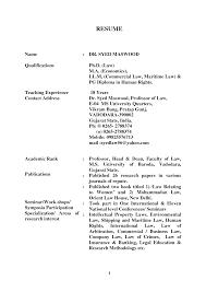 Legal Resume Format India Sidemcicek Com