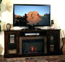 58 barn door fireplace tv stand stands electric modern