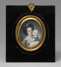 american portrait miniatures of the eighteenth century essay mrs charles willson peale rachel brewer and baby eleanor