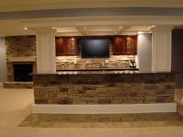 Shocking Exposed Brick Stone For Basement Bar Counter And Fireplace