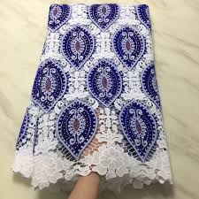 Embroidery Fabric Design Us 56 64 45 Off Blue And White Beautiful Embroidery Fabric Design Special Hot Wholesale Italian Lace Fabric Africa Nigeria Pl2965 In Lace From Home