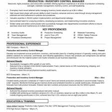 Supply Chain Resume Templates Inventory Resume Samples Cover Letter Manufacturing 48