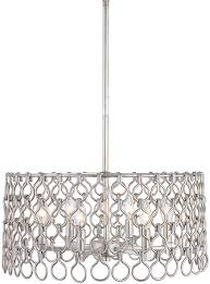uttermost 22129 maille contemporary silver leaf drum pendant lighting fixture loading zoom