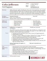 Engineering Resume Delectable Civil Engineer Resume 60 Samples