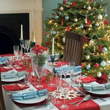 View in gallery christmas tablescape and tree