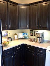 painted brown kitchen cabinets before and after. Painting Kitchen Cabinets Brown Glamorous Painted Dark Paint For Before And After A