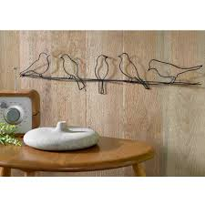gorgeous 3d birds on wire wall art idea made of wire on wooden wall above wooden on natural life wire wall art with birds on wire wall art optimize every inch of interior with natural