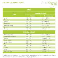 Blanket Measurement Chart Blanket Sizes Chart My Little Citygirl