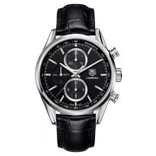 tag heuer carrera automatic white dial chronograph men s leather tag heuer carrera automatic chronograph men s black dial leather strap watch