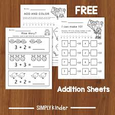 Kindergarten Math Activity: Fun With Addition Worksheets - Simply Kinder