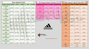 Adidas Youth Baseball Pants Size Chart Size Charts Revup Sports