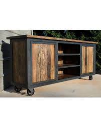 industrial tv console.  Console Reclaimed Wood TV Console Industrial Stand Tv  Intended Tv Console I