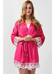 plus size robes hot pink lace satin robes plus size robes