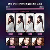 RuleaxAsi Aluminum Alloy Photography <b>LED</b> Selfie Ring Light ...