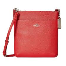 Shop Coach Embossed Textured Leather North South Crossbody Handbag - Free  Shipping Today - Overstock.com - 11118660
