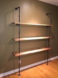 black pipe shelves iron pipe shelving amazing shelf ideas built with industrial simplified building regarding 4 black pipe shelves