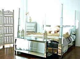 glass bedroom furniture mirrored regarding black fur