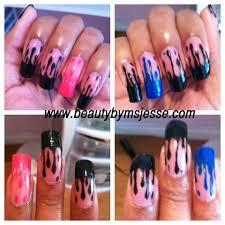 Dripping Paint Nails | beautybymsjesse