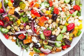 my colorful and crunchy mediterranean bean salad is the perfect side salad it ll