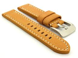 watch strap for panerai marina brown tan b101