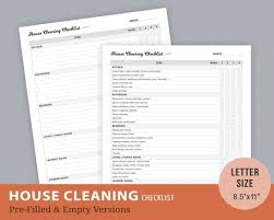 Household Cleaning Chore Chart House Cleaning Chores Checklist Weekly Cleaning Chore Chart House Cleaning Housekeeping Cleaning List Instant Download Letter Size
