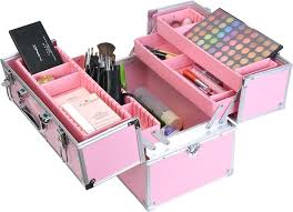 fashion makeup case beauty box with inner tray train cosmetic kit pink in bags cases from