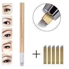 amazon 3d eyebrow tattoo microblading blade pen pencil manual semi permanent makeup tool beauty