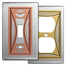 modern switch plate covers. Perfect Switch Modern Milano Stainless Steel Switch Plate Covers With E