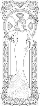 Alphonse Mucha Coloring Pages Audrey Hepburn