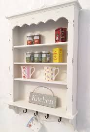 wall shelf cabinet. Interesting Wall Shabby Chic Wall Shelf Cabinet Unit Cupboard Storage French Vintage Kitchen   EBay Intended A