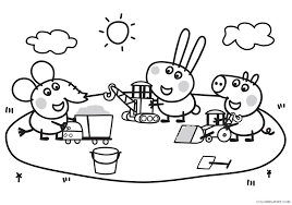Peppa pig birthday coloring pages are very popular. Peppa Pig Coloring Pages Cartoons Peppa Playground Printable 2020 4871 Coloring4free Coloring4free Com