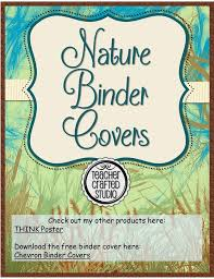 Binder Cover Page Nature Teacher Binder Covers