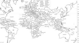 World Map Black And White Printable With Countries Free Printable Black And White World Map With Countries Labeled And