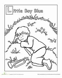 Small Picture Little Boy Blue Worksheet Educationcom