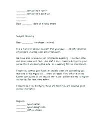 Disciplinary Poor Job Performance Letter Sample Action For