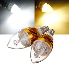 e14 6w white warm white 3 led golden chandelier candle bulb 85 265v