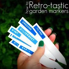garden labels. How To: Retro-tastic Garden Markers Labels