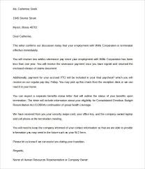 termination letter template free termination letter template 39 free sample example for