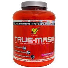 BSN, <b>True</b>-<b>Mass</b>, <b>Ultra Premium Protein/Carb</b> Matrix, Strawberry Milk ...