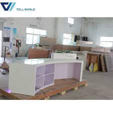 office counter design. Wholesale LED Front Office Counter Design Luxury Corian Round Reception Desk Z