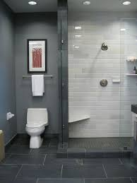 gray tile bathroom floor. le carrelage metro en 40 idées déco. shower tilessubway tile showersbathroom tilingglass showersgrey floor gray bathroom o