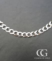 9ct white gold 6mm diamond cut curb chain necklace 20 22